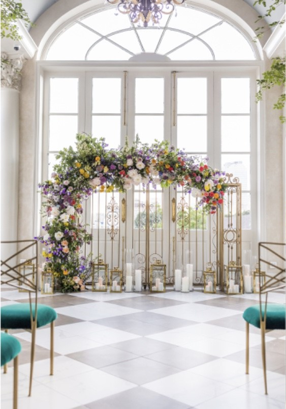 Lydia Noble Events Chameleon  Beautiful Flower Backdrop