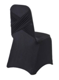 Rental store for CHAIR COVER, SPANDEX BLACK in New Orleans LA