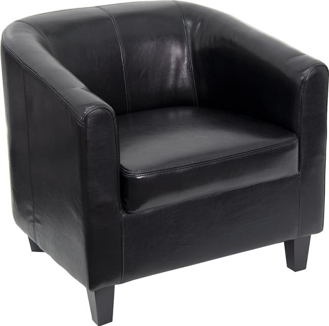 Where to find CHAIR, BLACK LEATHER SLOPED BACK in New Orleans