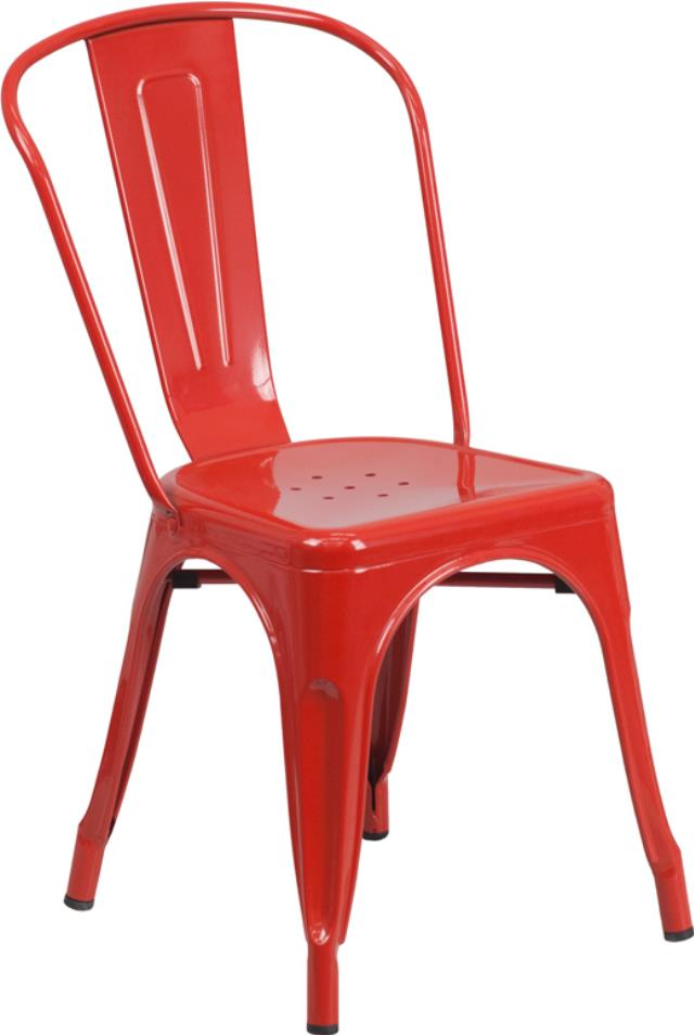 Where to find CHAIR, BISTRO METAL RED in New Orleans