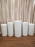 Rental store for FLOOR COLUMN SET OF 5 ROUND, WHITE in New Orleans LA